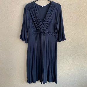 Boden Navy Blue Faux Wrap Dress